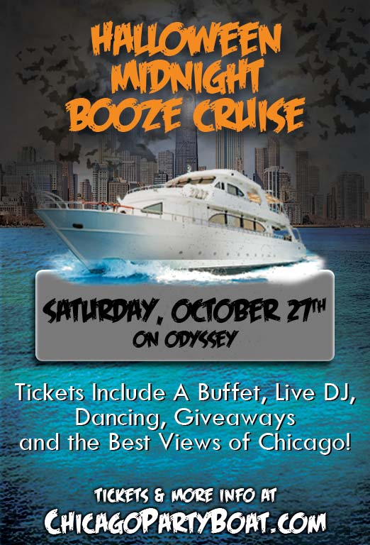 Halloween Midnight Booze Cruise - Tickets include a Buffet, Live DJ, Dancing, Giveaways and the best views of Chicago!