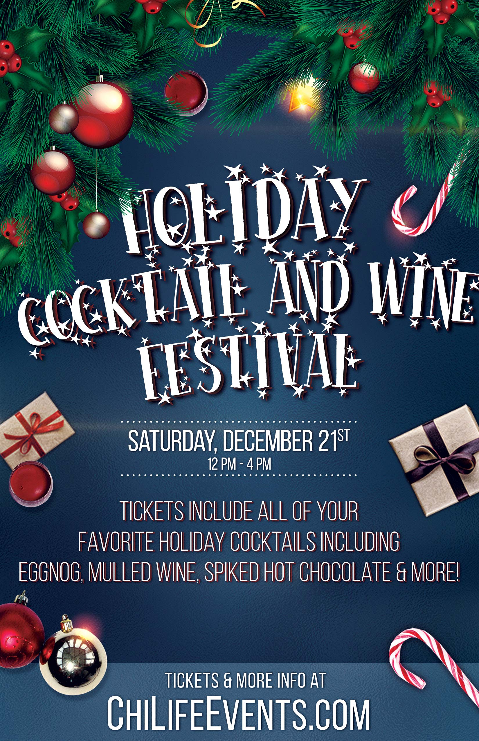 Christmas Events Chicago 2019 2019 Holiday Cocktail & Wine Festival   A Chicago Holiday Cocktail