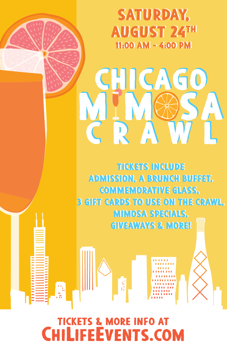 Chicago Mimosa Bar Crawl Party - Tickets include Admission to all participating venues, a Brunch Buffet, a Commemorative Glass, Three Gift Cards To Use During The Crawl, Mimosa Specials, Giveaways & More!