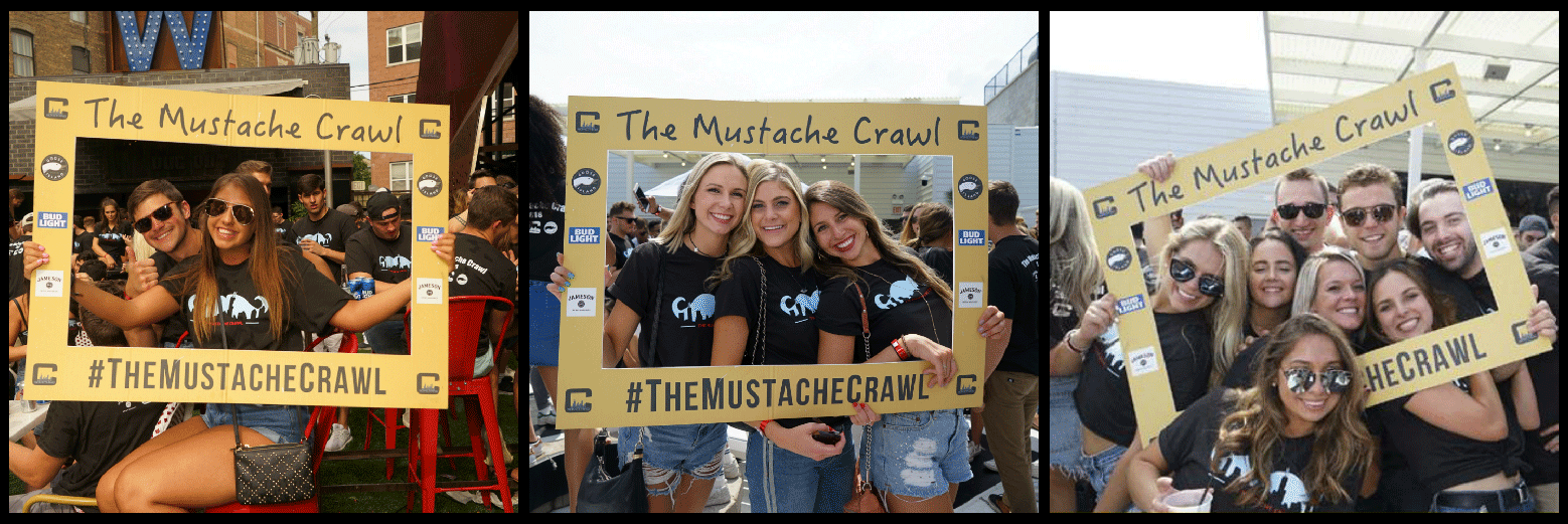 The Mustache Bar Crawl Party Picture Collage