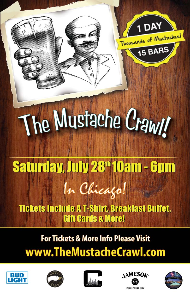 The Mustache Crawl Chicago S Favorite Bar Crawl Tickets