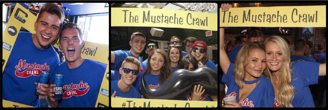 The Mustache Crawl Picture Collage