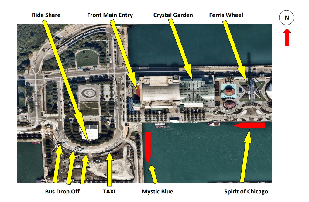Navy Pier updated map