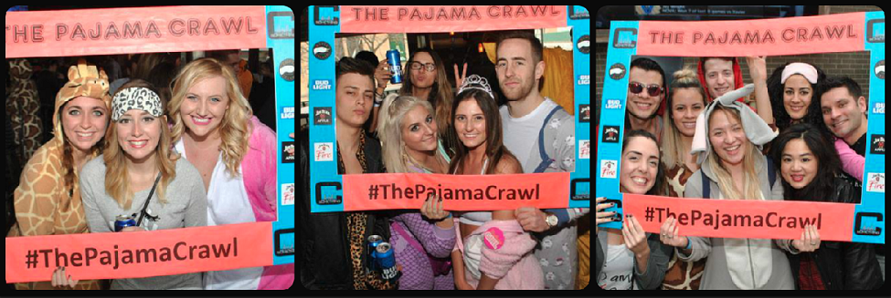 Pajama Crawl Picture Collage