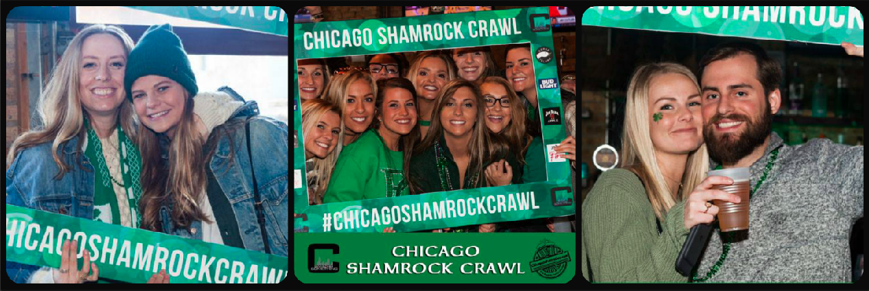 Chicago Shamrock Crawl Picture Collage
