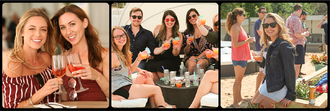 Rosé Fest on the Beach Picture Collage