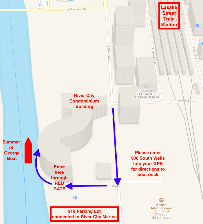 Summer of George Boat Directions Map