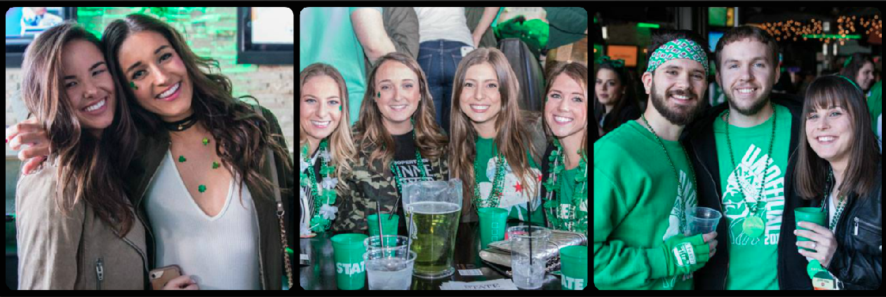 State Restaurant St. Patrick's Day Party Picture Collage
