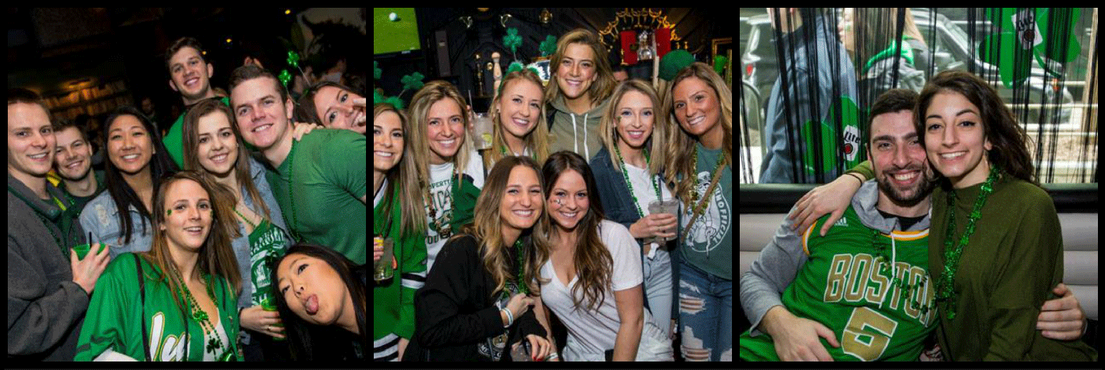 Wrigleyville Afternoon St. Patrick's Day Bar Crawl Party Picture Collage