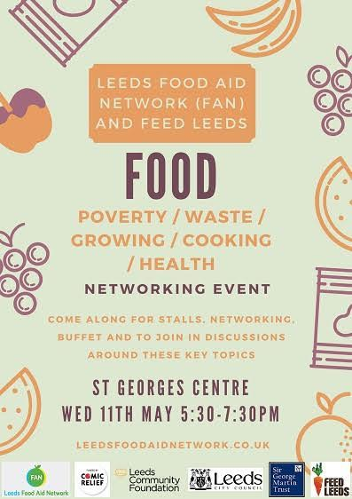 Leeds Food Poverty Event Poster