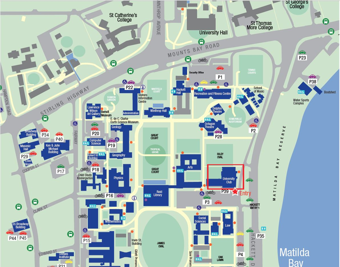UWA Club - Map and Parking