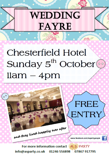 Chesterfield Hotel wedding fayre A. S. PARTY