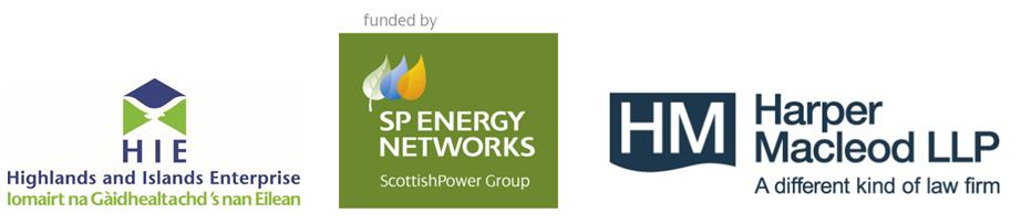 three sponsor logos