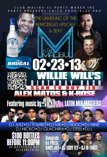 Alex Matos & K-Rose LIVE Feb 23rd 2013 @ MALIBU