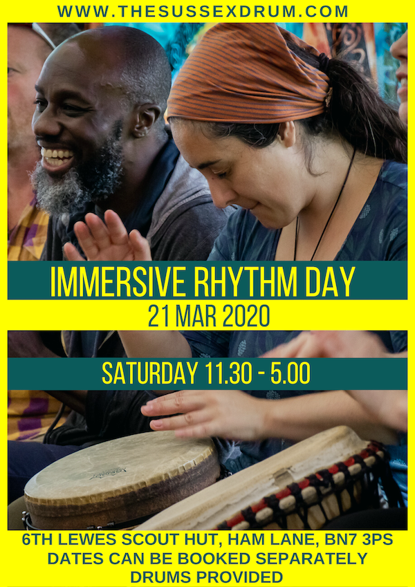 Immersive Rhythm Day Flier 21 Mar 2020