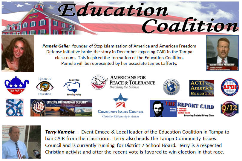 911 event Banner CAIR out of TAMPA Schools