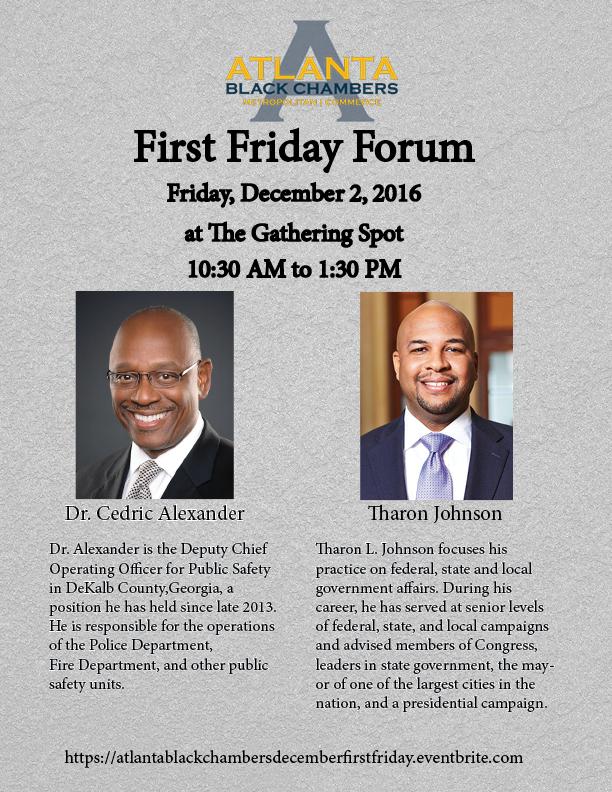Atlanta Black Chambers First Friday Flyer