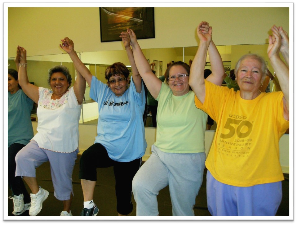 Winters Healthcare Exercise and Nutrition Group enjoys their time together.