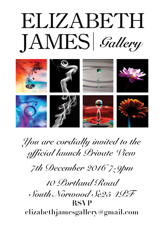 Elizabeth James Gallery Private View Invite