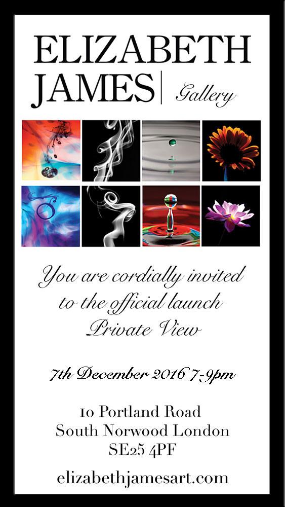 Elizabeth James Gallery Private View Invite