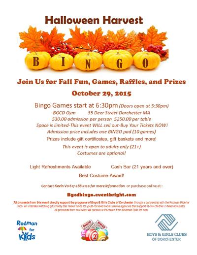 Halloween Harvest Bingo