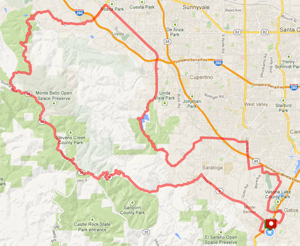50 Mile Ride for 2013 Route Map