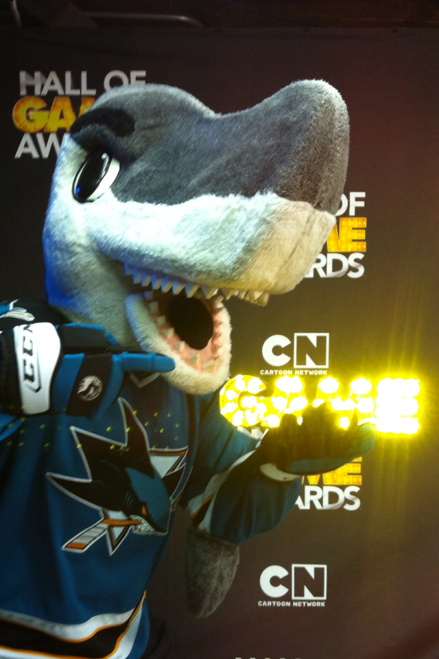 S.J. Sharkie at CN hall of Game
