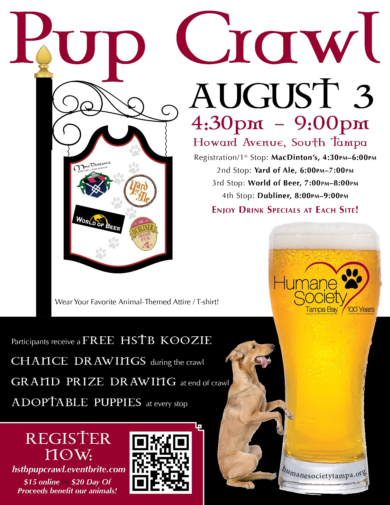 Pup Crawl Flyer