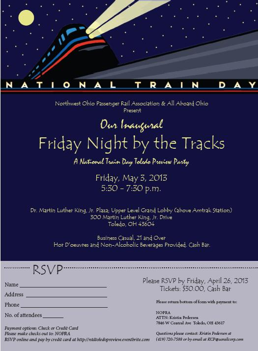 National Train Day Toledo Preview Party Invite