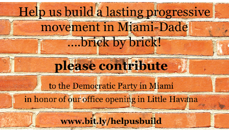 Help us build by contributing to the Miami-Dade Democratic Party today