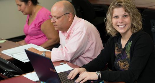 Cheryl with laptop
