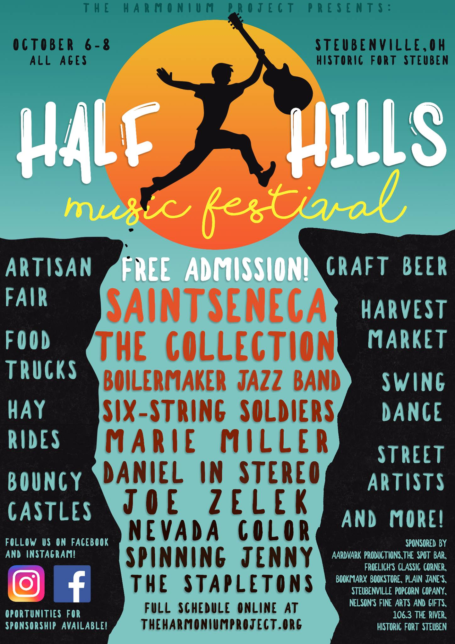 Half Hills Festival Poster