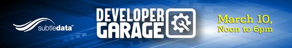 SubtleData Developer Garage Header Image