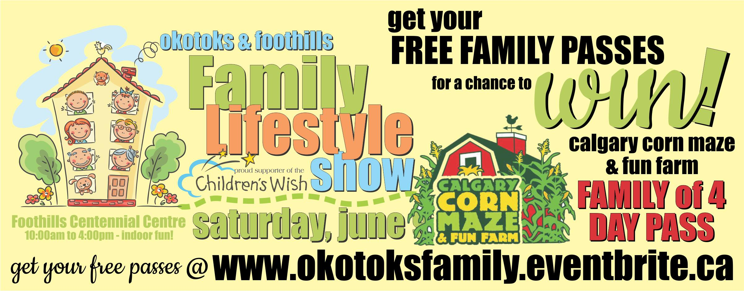 Okotoks Family Lifestyle Show FREE FAMILY PASS