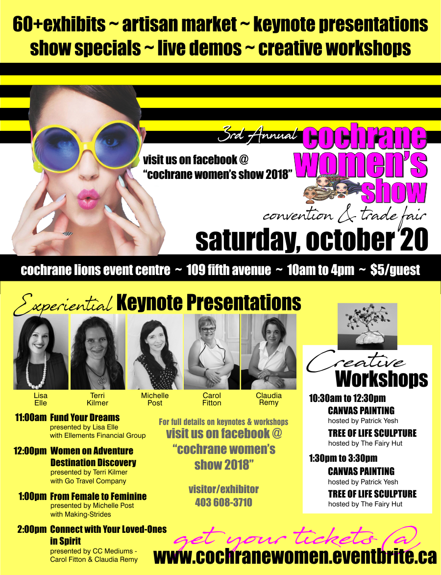 3rd Annual Cochrane Women's Show Oct 20