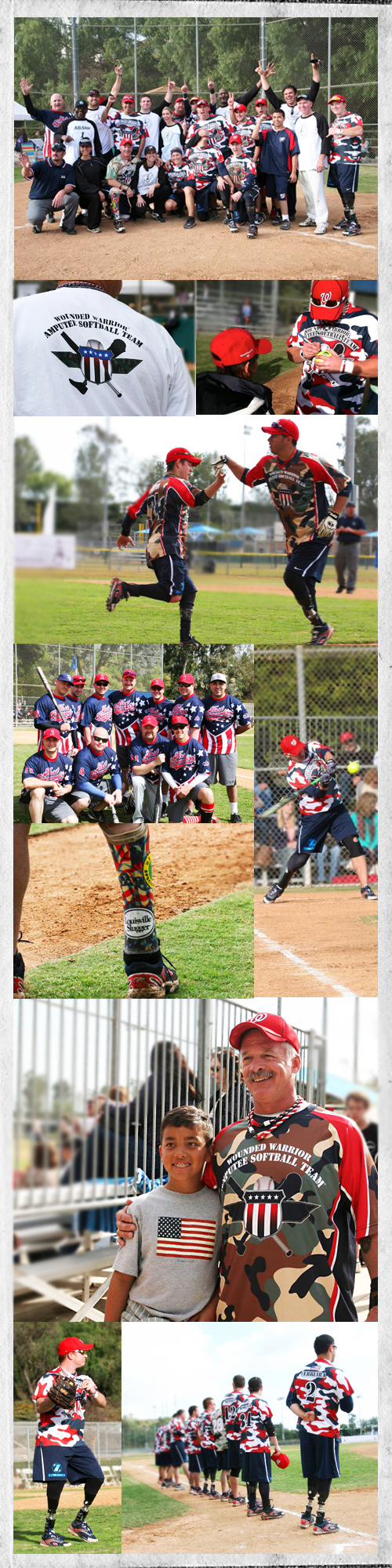 Wounded Warrior Amputee Softball Team images