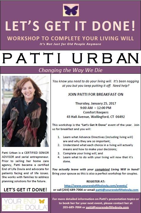 Living Will Workshop Flyer