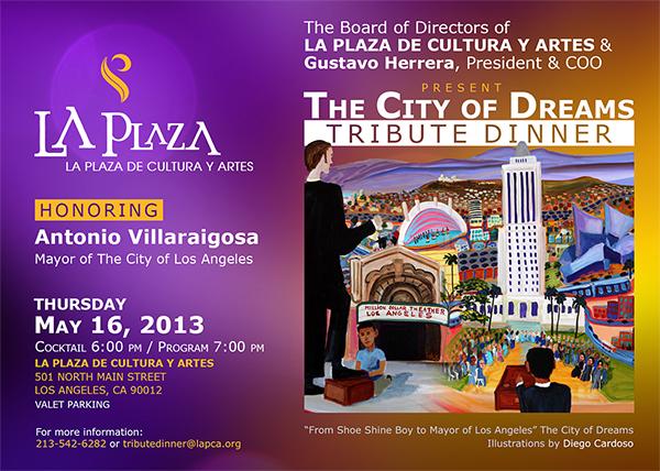 LA Plaza Invite to Tribute Dinner