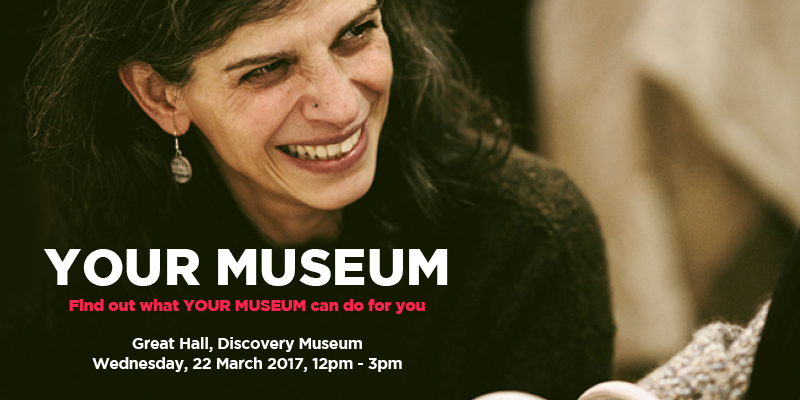 Your Museum free event at Discovery Museum 22 March