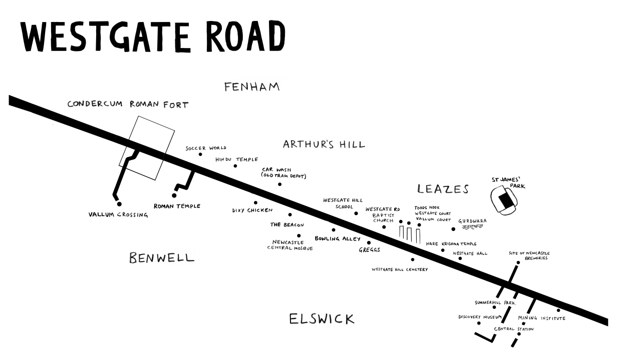 Map of Westgate Road