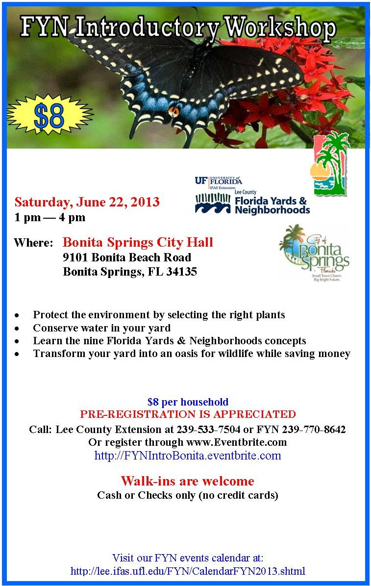Bonita Springs FYN Intro flyer