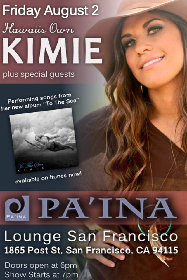 Flier for Kimieʻs SF show at Paʻina