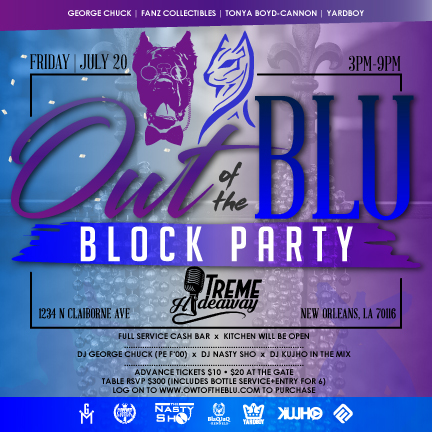 Owt of the Blu Block Party ad