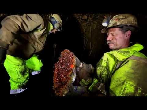 John Cornish excavating Tasmanian mine