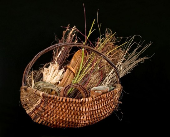 ribbed gathering basket by Melinda West