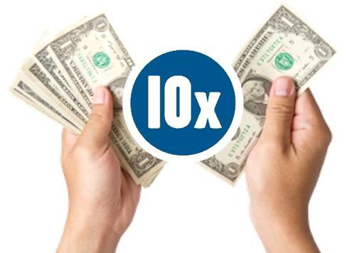 10x ROI