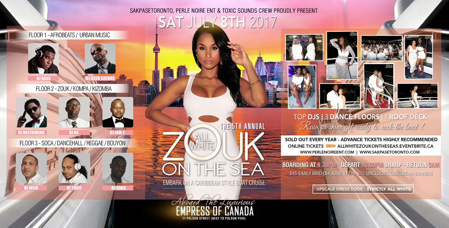 All White Zouk On the sea boat cruise