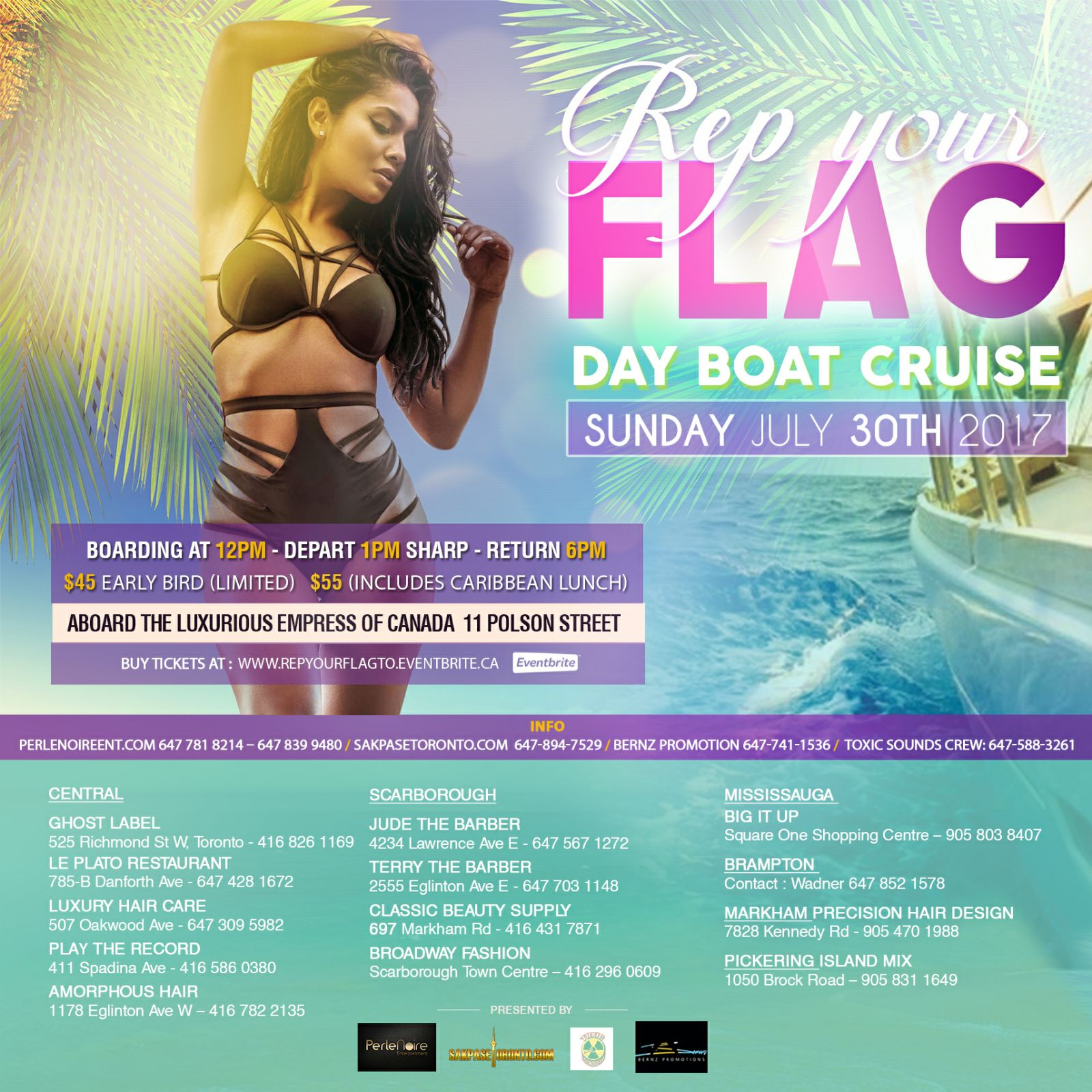 toronto boat cruise rep your flag