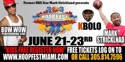 BOW WOW PERFORMING LIVE AT HOOP FEST MIAMI 3 ON 3 BASKETBALL...