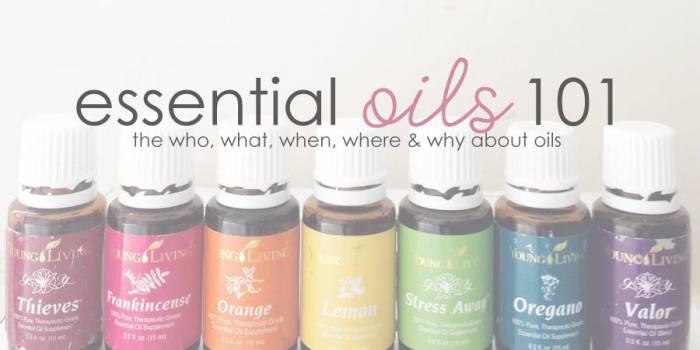 essential oils 101 graphic
